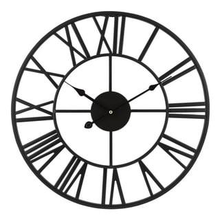 "Link to La Crosse Clock 83193-BHG 18"" Black Metal Skeleton Vintage Quartz clock Similar Items in Decorative Accessories"