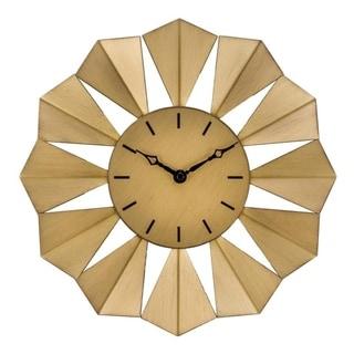 """La Crosse Clock 83230-BHG 12.8"""" Gold Metal Sunray Quartz Wall Clock"""