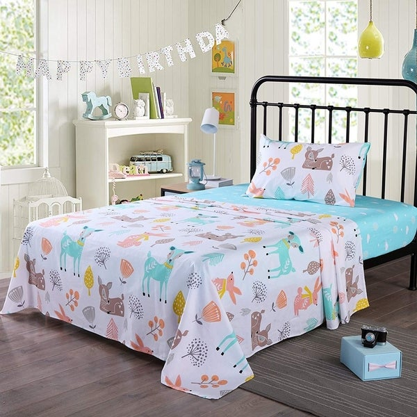 MarCielo Kids cotton sheet twin full sheets for girls boys children. Opens flyout.