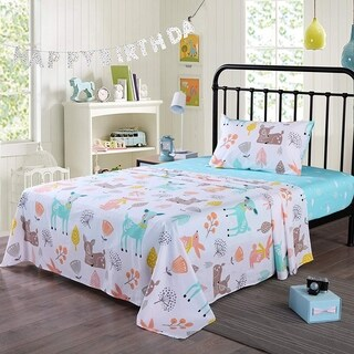 MarCielo Kids cotton sheet twin full sheets for girls boys children