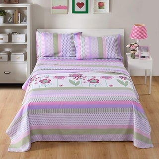 MarCielo Bed Sheets for Kids Twin Sheets for Girls Boys Children