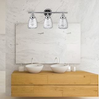 Link to Porch & Den Beveland Chrome All-in-one 5-piece Bathroom Set Similar Items in Bathroom Vanity Lights