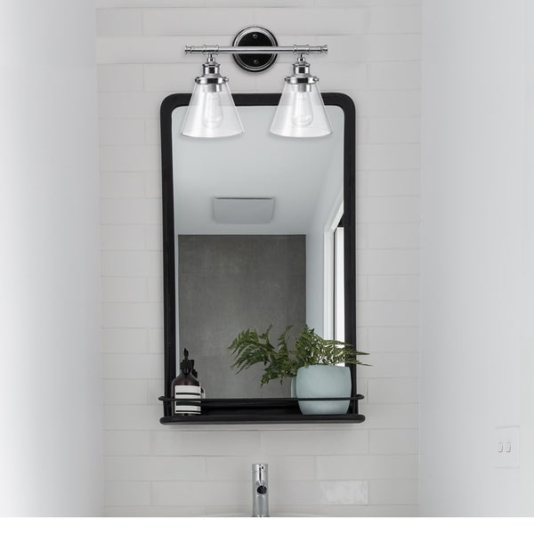 Porch & Den Churchley Vanity Light with Clear Glass Shades. Opens flyout.