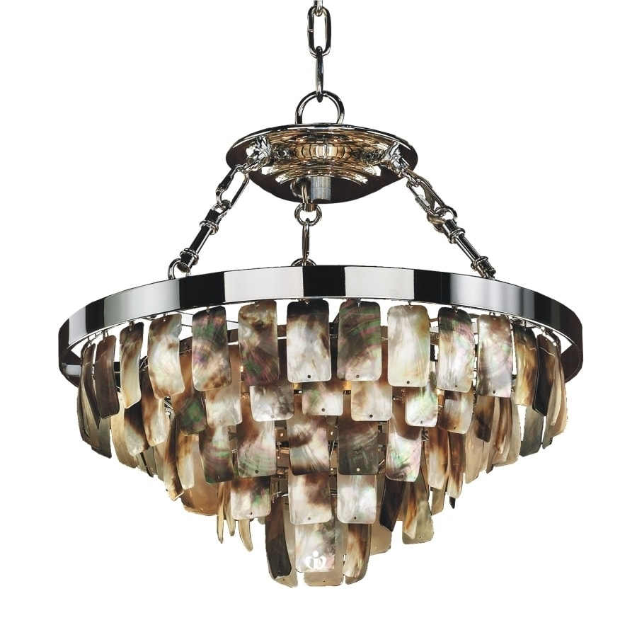 16W Dark Shell Chandelier (Malibu 618V 13 to 24 Inches - 19)
