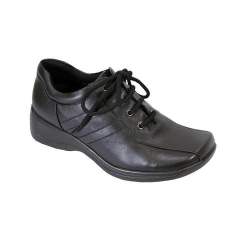 24 HOUR COMFORT Camila Extra Wide Width Cushioned Leather Shoes