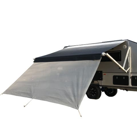 ALEKO RV Deluxe Awning Sun Screen - 10 x 6 Feet - Gray Mesh