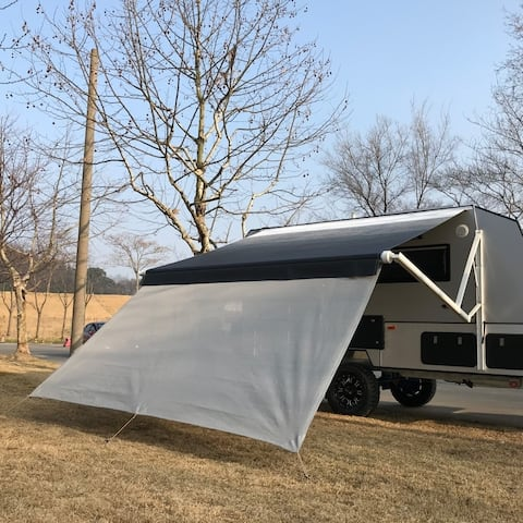 ALEKO RV Deluxe Awning Sun Screen - 15 x 6 Feet - Gray Mesh