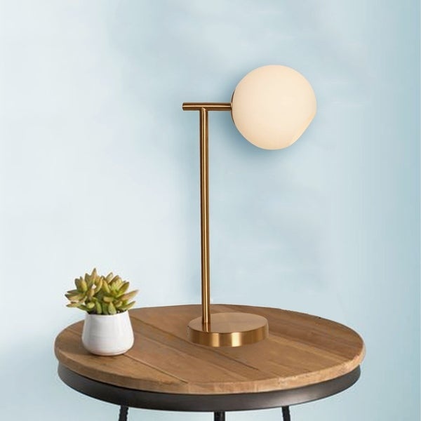 Saruna Polished Brass 1-light Table Lamp. Opens flyout.