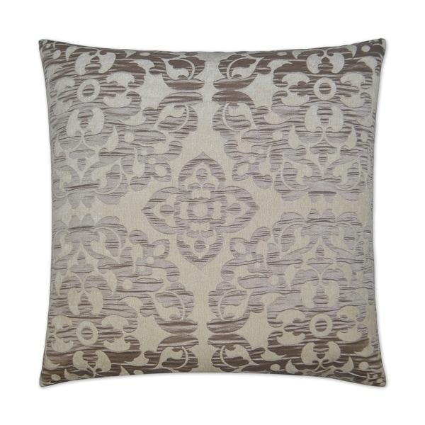 Monte-Taupe Feather Down Hidden Zipper 24-inch Decorative Throw Pillow