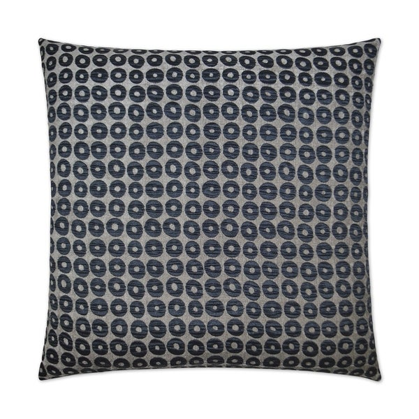 Mirabelle-Midnight Feather Down Hidden Zipper 24-inch Decorative Throw Pillow