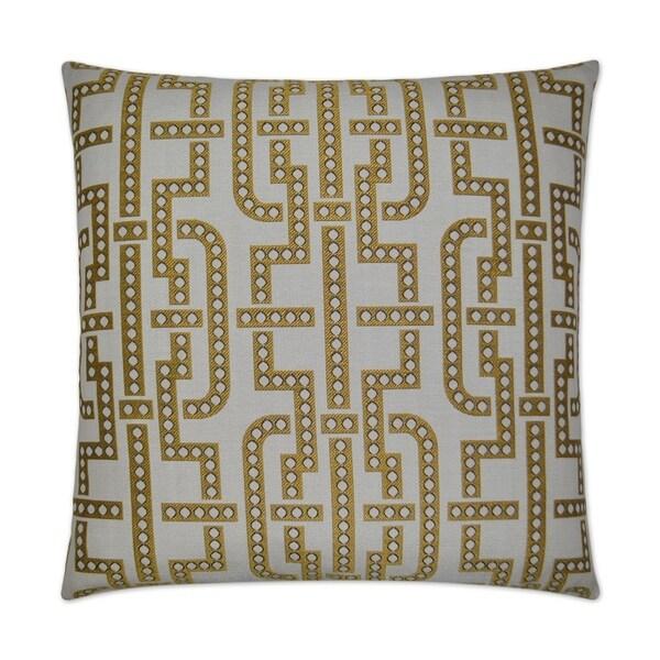 Manhattan-Yellow Feather Down Hidden Zipper 24-inch Decorative Throw Pillow