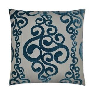 Harpo-Peacock Feather Down Hidden Zipper 24-inch Decorative Throw Pillow