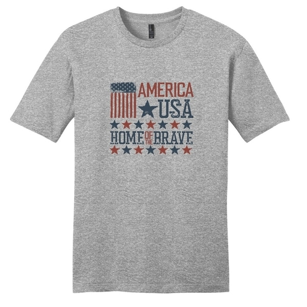 America USA Home of The Brave T-Shirt - Unisex Fit Patriotic Shirt