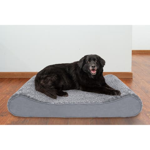 FurHaven Pet Bed Memory Foam Ultra Plush Luxe Lounger Dog Bed