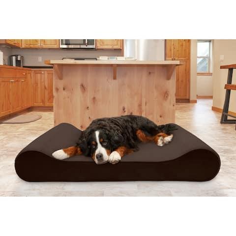FurHaven Pet Bed Cooling Gel Microvelvet Luxe Lounger Dog Bed