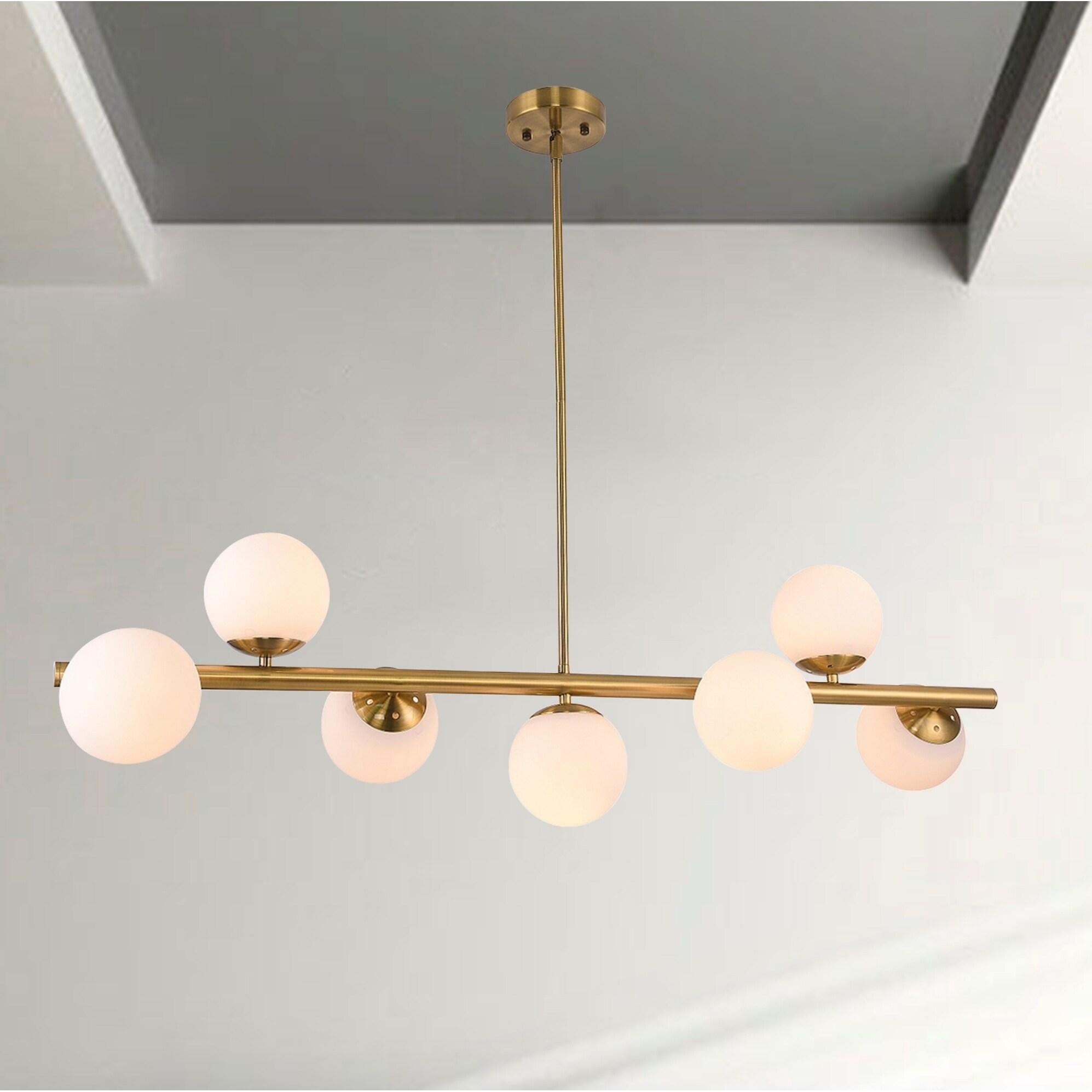 Nethi Antique Brass 7 Light Chandelier Overstock 28153226