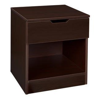 Niche Mod Single Drawer Night Stand- Truffle