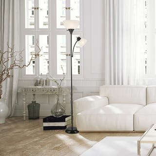 Delilah 72 in. Torchiere Floor Lamp with Adjustable Reading Light
