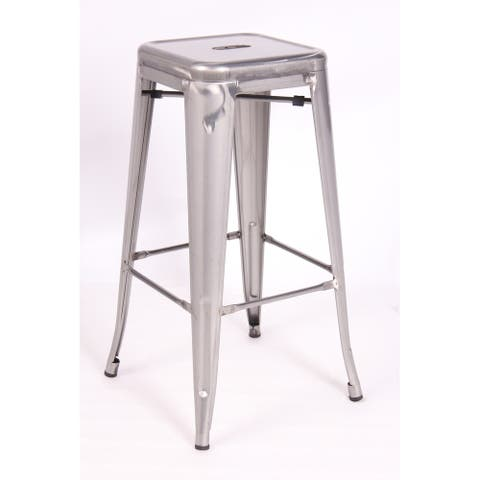 High Backless Metal Indoor Counter Height Stool (set of 2)