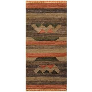 Handmade One-of-a-Kind Wool Kilim (India) - 1'9 x 3'6