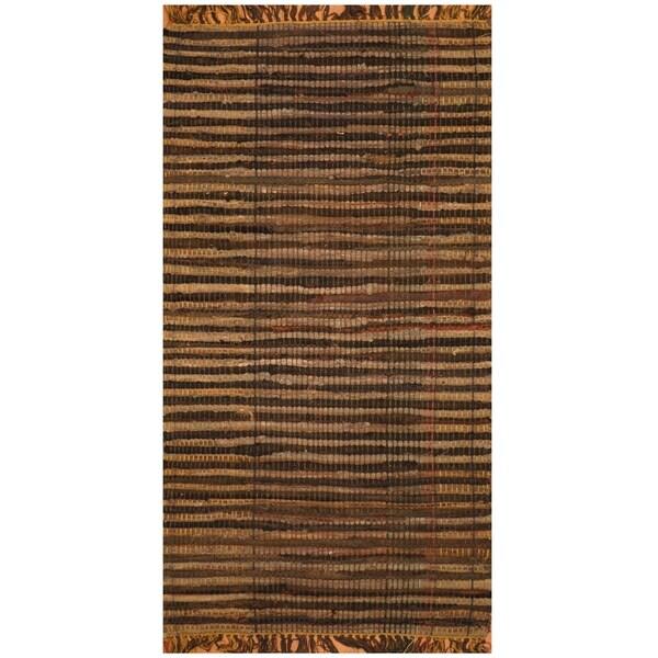 Handmade One-of-a-Kind Wool Kilim (India) - 2'1 x 4'
