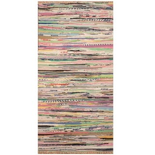 Handmade One-of-a-Kind Wool Kilim (India) - 2' x 3'10