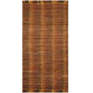 Handmade One-of-a-Kind Wool Kilim (India) - 2'2 x 4'