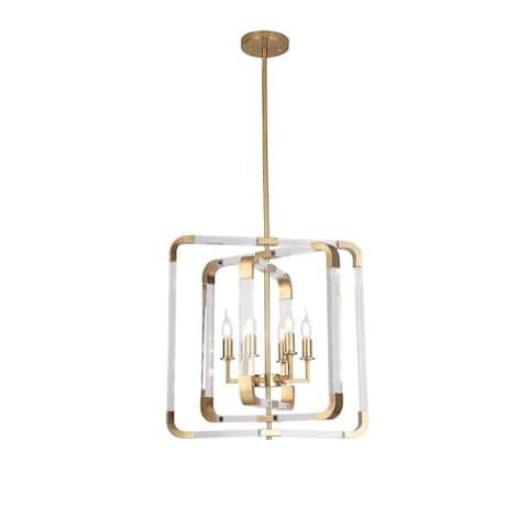 Copper Metal Rectangular Ceiling Fixture