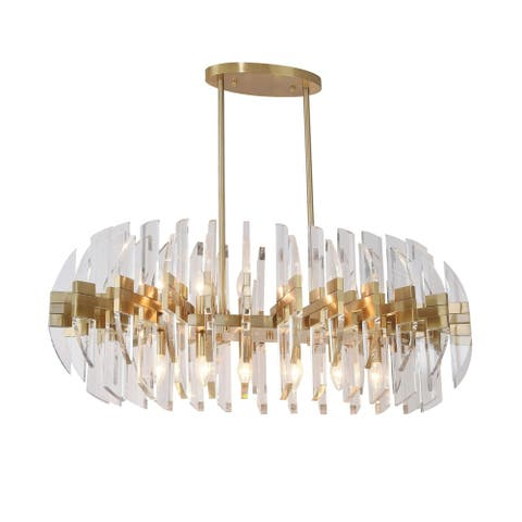 Copper Metal Ceiling Fixture with Acrylic Arms