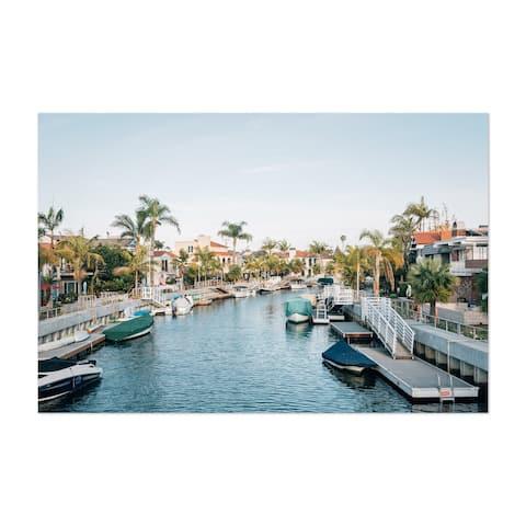 Porch & Den 'Naples Canal Long Beach CA' Unframed Art Print/Poster