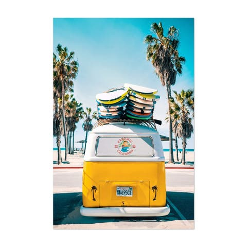 Noir Gallery VW Van Surfing Venice Beach Unframed Art Print/Poster