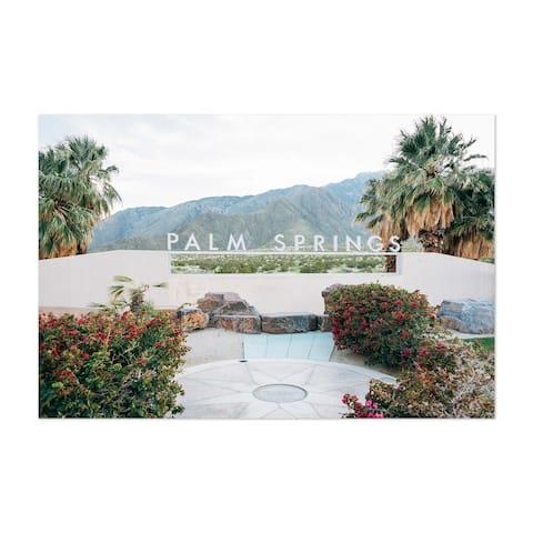 Porch & Den 'Palm Springs Sign California' Unframed Art Print/Poster