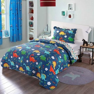 Link to Porch & Den Elmer Dinosaur Kids Quilt Set Similar Items in Kids Comforter Sets