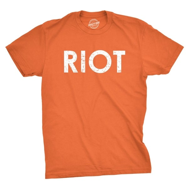 3aa7e14757 Shop Mens Riot T shirt Funny Shirts for Men Novelty Tees Humor - On Sale -  Free Shipping On Orders Over $45 - Overstock - 28156538