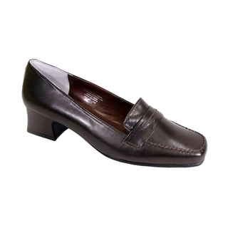 Link to PEERAGE Ida Women Extra Wide Width Comfort Leather Penny Loafer Shoes Size 10 in Beige (As Is Item) Similar Items in As Is