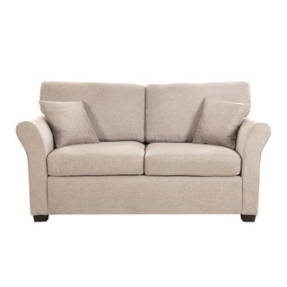 Link to Classic Linen Fabric Loveseat Sofa with 2 Accent Pillows Similar Items in Living Room Furniture