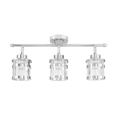 Wexford 3-Light Chrome Track Lighting Kit with Clear Glass Shades