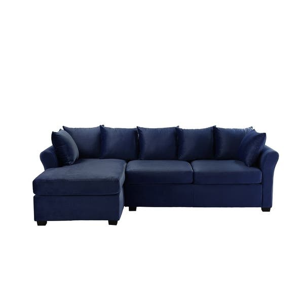 Low Profile Sectional Sofa With Left Facing Chaise