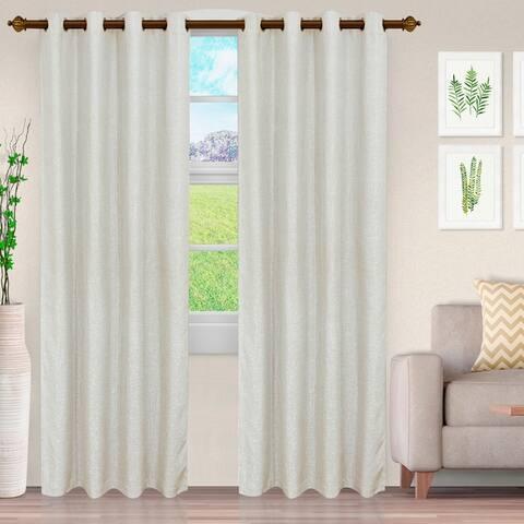 Miranda Haus Hebbe Cascade Jacquard Grommet Curtain Panel (Set of 2)