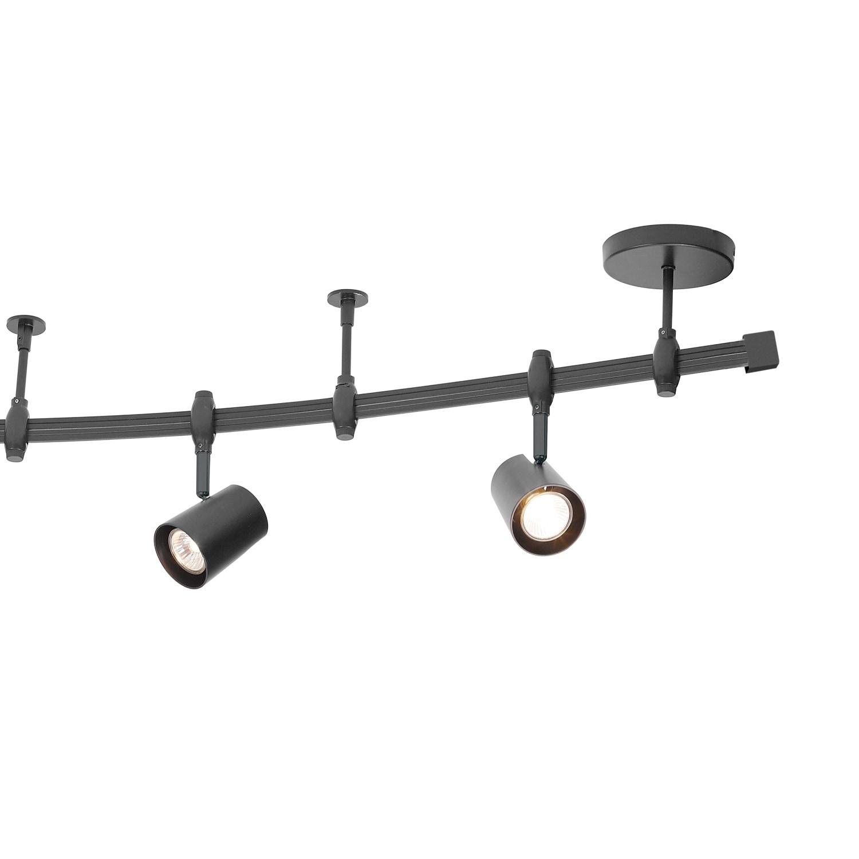 Flexigon 6 Light Black Flexible Track Lighting Kit