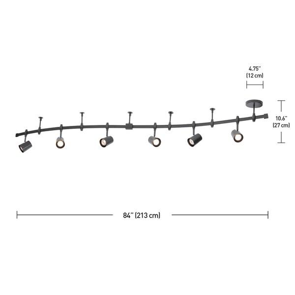 Flexigon 6-Light Black Flexible Track Lighting Kit