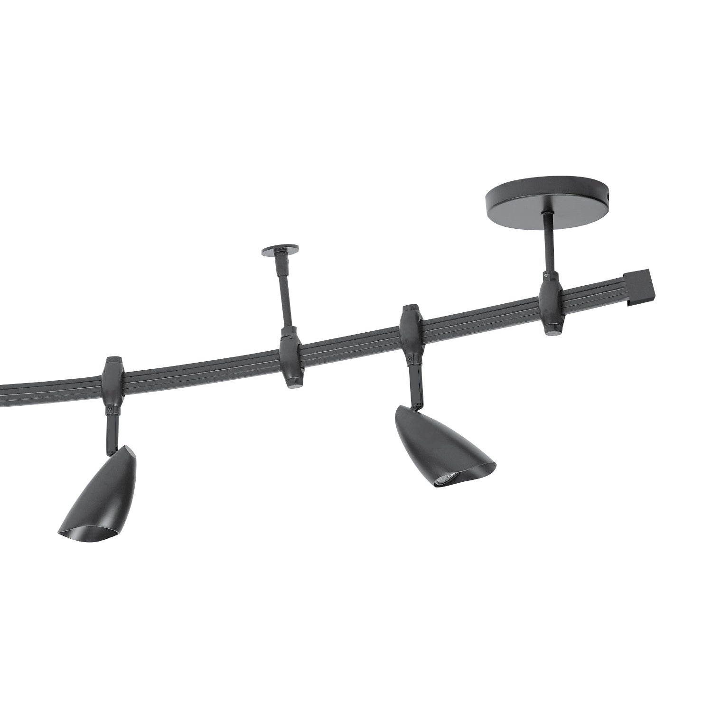 Flexigon 6 Light Flexible Track Lighting Kit With Oval Shades