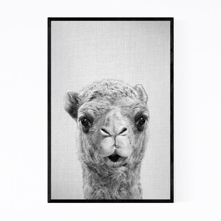 Noir Gallery Camel Animal Nursery Kids Room Framed Art Print