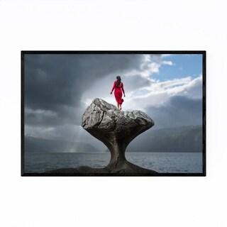Noir Gallery Norway Nature Landscape Rock Framed Art Print