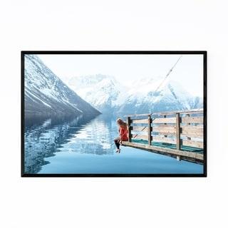 Noir Gallery Fjord Norway Landscape Nature Framed Art Print