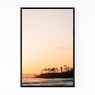 Noir Gallery Palm Trees Laguna Beach Coastal Framed Art Print
