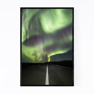 Noir Gallery Aurora Borealis Iceland Nature Framed Art Print