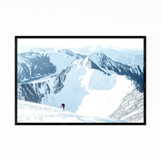 Noir Gallery Snowy Mountains India Nature Framed Art Print
