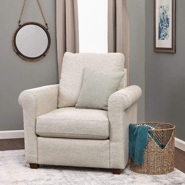 Shop Click Décor Lewis Rolled Arm Accent Chair