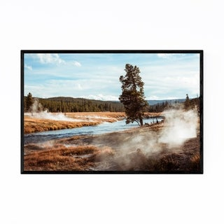 Noir Gallery Yellowstone Wyoming Landscape Framed Art Print